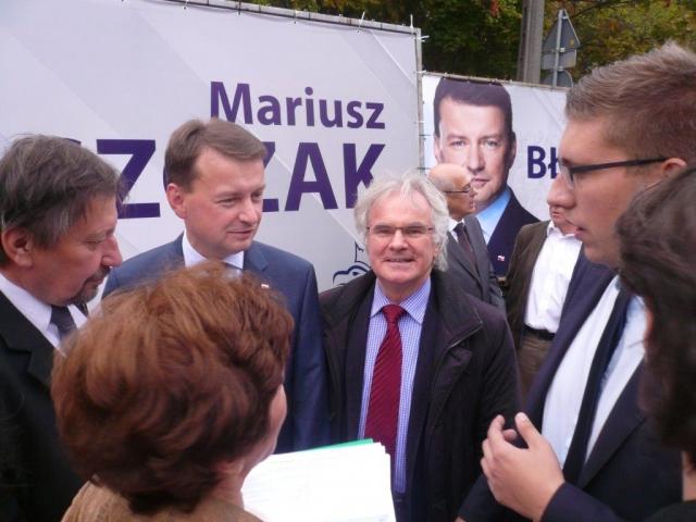 Z ministrem Spraw Wwenetrznych Mariuszem Błaszczakiem